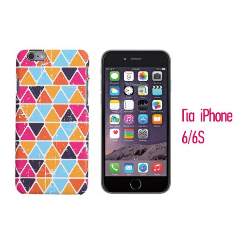 Backcase ανάγλυφη θήκη VodEx για iPhone 6/6S - Colorful Pattern