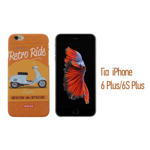 Backcase ανάγλυφη θήκη VodEx για iPhone 6 Plus/6S Plus - Retro Ride