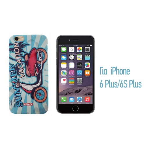 Backcase ανάγλυφη θήκη VodEx για iPhone 6 Plus/6S Plus - Blue Vacation