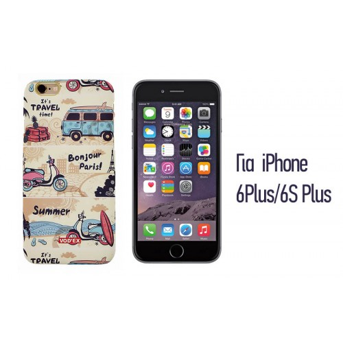 Backcase ανάγλυφη θήκη VodEx για iPhone 6 Plus/6S Plus - Bonjour Paris!