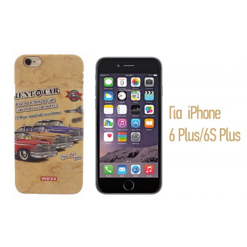 Backcase ανάγλυφη θήκη VodEx για iPhone 6 Plus/6S Plus - Rent a Car