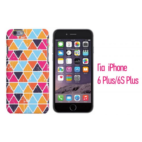 Backcase ανάγλυφη θήκη VodEx για iPhone 6 Plus/6S Plus - Colorful Pattern