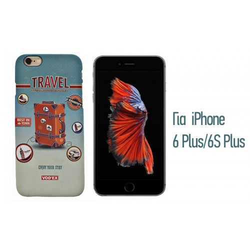 Backcase ανάγλυφη θήκη VodEx για iPhone 6 Plus/6S Plus - Travel
