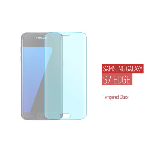 Προστατευτικό τζαμάκι για Samsung Galaxy S7 Edge - Full Face Curved Tempered Glass - Transparent