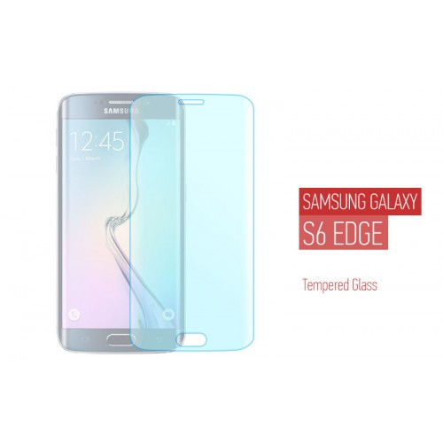 Προστατευτικό τζαμάκι για Samsung Galaxy S6 Edge - Full Face Tempered Glass Transparent