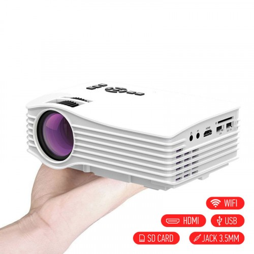 WiFi ready projector UC36+ με AV/HDMI/USB/SD - Λευκό - OEM 48864