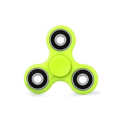 Fidget Spinner Plastic ABS Three Leaves 3 minutes - Yellow - OEM 50533