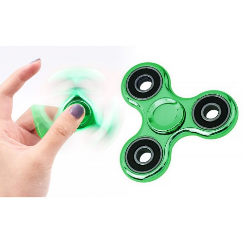 Fidget Spinner Aluminum Alloy Three Leaves 3 minutes - Metallic Green - OEM 50638