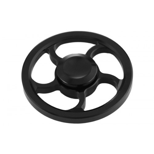 Fidget Spinner Wind Wheel Aluminium Alloy 3 minutes - Black - OEM 50670
