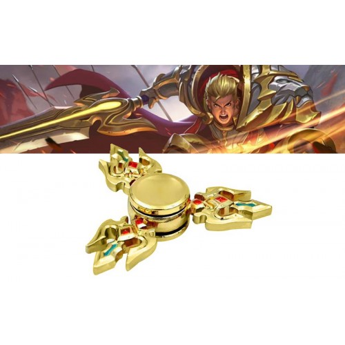 Fidget Spinner Metal 3 swords Anti Stress 2.5 minutes - Gold - OEM 50671