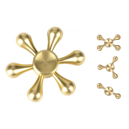 Fidget Spinner Drops Six Leaves 3 minutes - Gold - OEM 50674