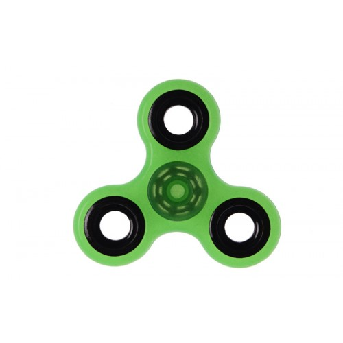 Fidget Spinner Plastic ABS Three Leaves 1 minute - Green/Black - OEM 50701