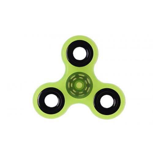 Fidget Spinner Plastic ABS Three Leaves 1 minute - Yellow/Black - OEM 50702