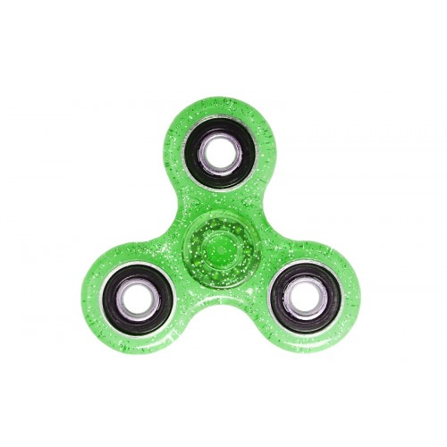 Fidget Spinner Plastic ABS Three Leaves 1 minute - Green/Black - OEM 50706