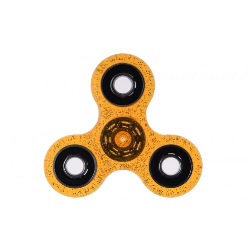Fidget Spinner Plastic ABS Three Leaves 1 minute - Orange/Black - OEM 50711