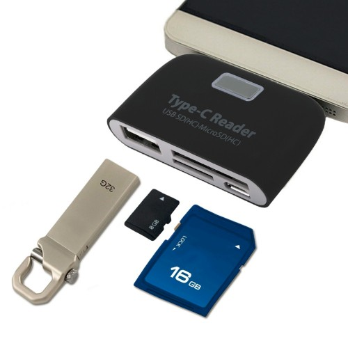 Card Reader Type-C 3.1 με θύρες SD/Micro SD/USB - ΟΕΜ 51122