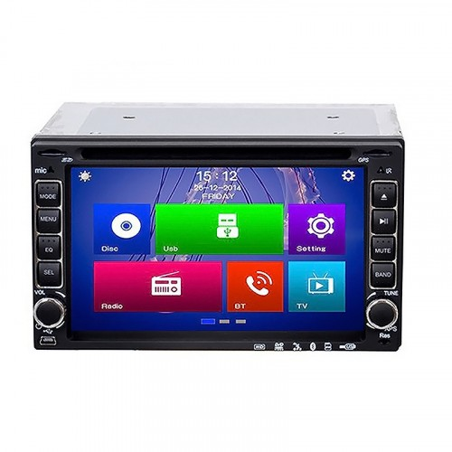 "MP5 2 Din Android με LCD 6.2"", Bluetooth, CD/DVD, GPS και χειριστήριο - 6206"