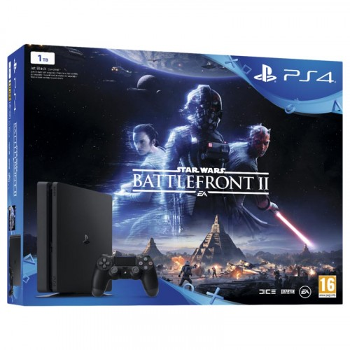 Sony Playstation 4 (PS4) Slim 1TB & Star Wars Battlefront II
