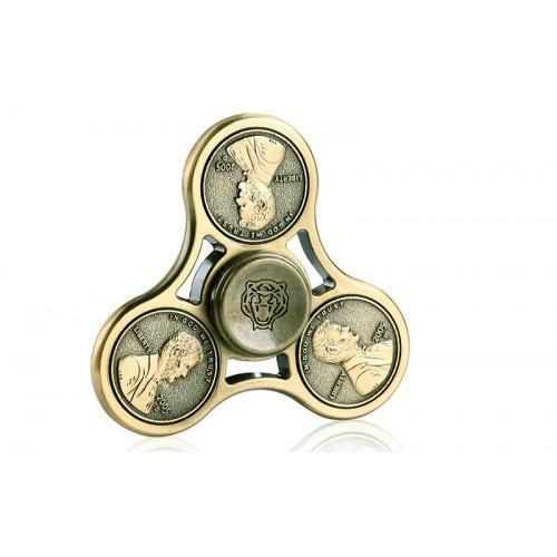 Fidget Spinner Beads Cents Pattern Three Leaves 4 minutes - Army Green - OEM 50937