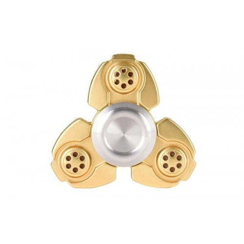 Fidget Spinner Titanium Alloy Russia CKF Spiral Three Leaves 2 minutes - Gold - OEM 50944